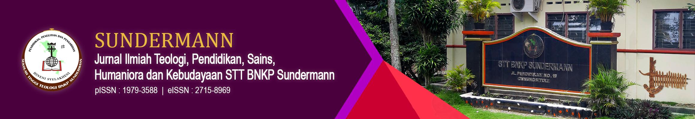Jurnal Sundermann pISSN 1979-3588 eISSN 2715-8969